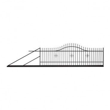 Brama przesuwna Polbram Steel Group Rodos 2 400 x 150 cm lewa