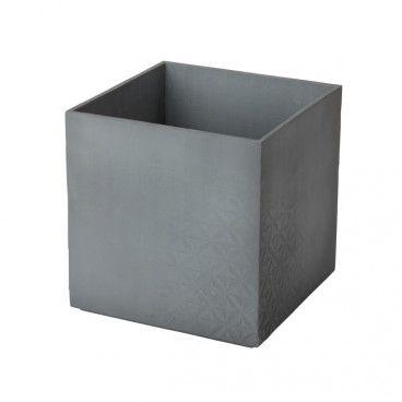 Doniczka GoodHome 14 cm efekt betonu