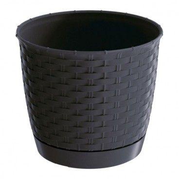 Doniczka Ratolla Round antracyt 25 cm