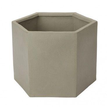 Doniczka betonowa GoodHome 24 cm geometryczna