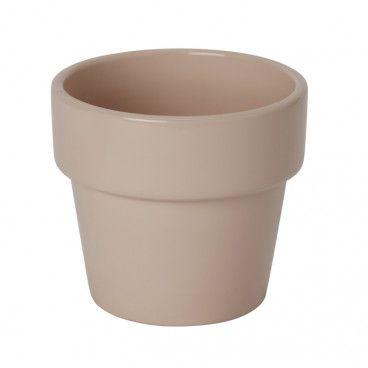 Doniczka ceramiczna GoodHome ozdobna 10,5 cm różowa