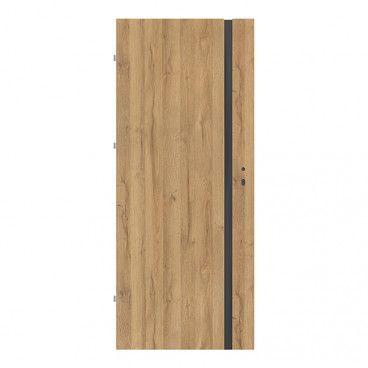 Drzwi pokojowe Exmoor 80 lewe dąb grandson czarna szyba