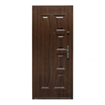 Drzwi wewnątrzklatkowe stalowe Splendoor Gaja 90 lewe orzech szlachetny