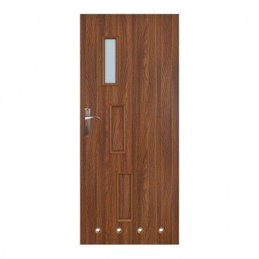 Drzwi z tulejami Everhouse Roma 80 prawe akacja