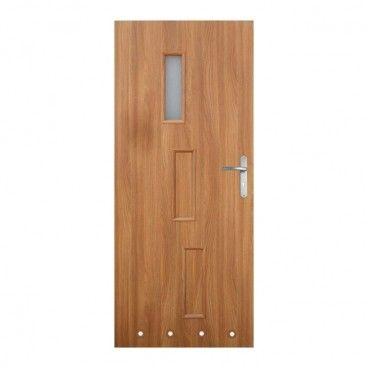 Drzwi z tulejami Roma 80 lewe akacja