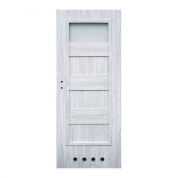 Drzwi z tulejami Winfloor Kastel 80 prawe silver
