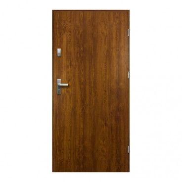 Drzwi zewnętrzne pełne O.K. Doors Artemida P55 80 prawe złoty dąb