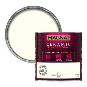 Farba Magnat Ceramic biały diament 2,5 l