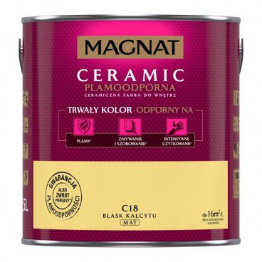 Farba Magnat Ceramic blask kalcytu 2,5 l