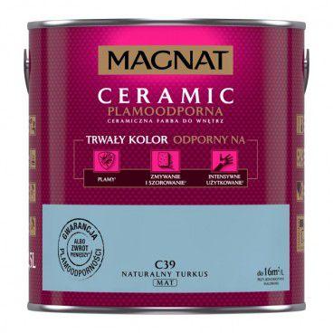 Farba Magnat Ceramic naturalny turkus 2,5 l