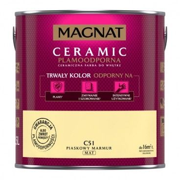 Farba Magnat Ceramic piaskowy marmur 2,5 l