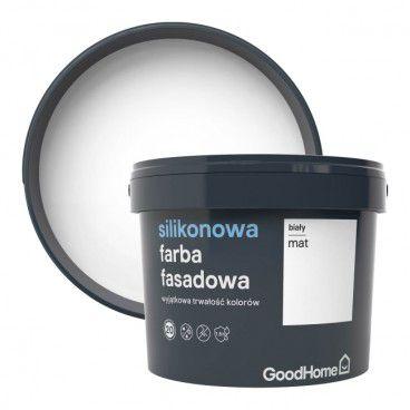 Farba elewacyjna GoodHome Premium biała 10 l