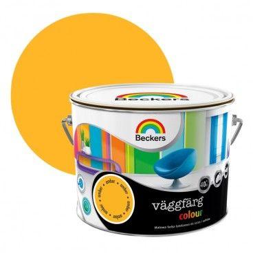 Farba lateksowa Beckers Vaggfarg Colour amber 2,5 l