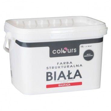 Farba strukturalna Colours Raufaza biały 10 l