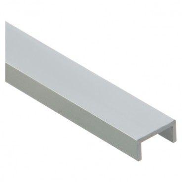 Forma U Cezar 20,5 x 9 x 1 mm 1 m aluminium srebrne