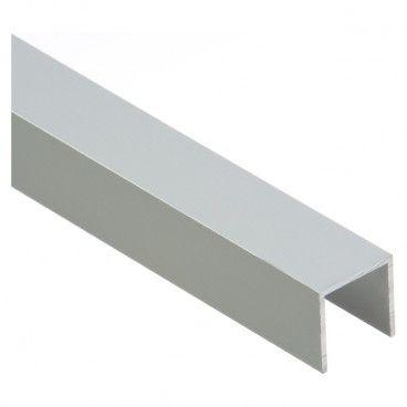 Forma U Cezar 20 x 20 x 1,5 mm 2 m aluminium srebrne