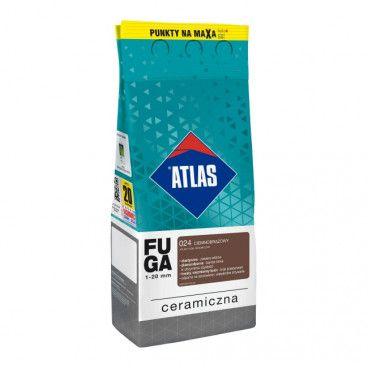 Fuga ceramiczna Atlas 024 ciemnobrązowy 2 kg