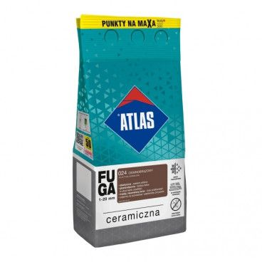 Fuga ceramiczna Atlas 024 ciemnobrązowy 5 kg
