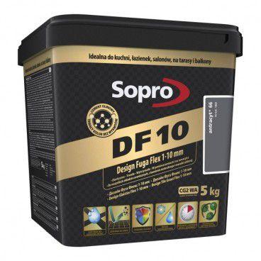 Fuga szeroka Sopro Flex DF10 Design 66 antracyt 5 kg