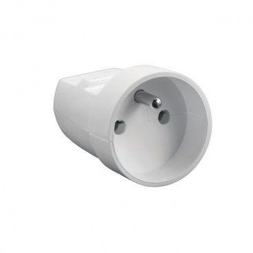 Gniazdo Elgotech 1 x 2P+Z z uziemieniem 16 A białe