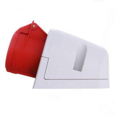 Gniazdo PCE siłowe zasilające stałe z uziemieniem małe czerwone - biały