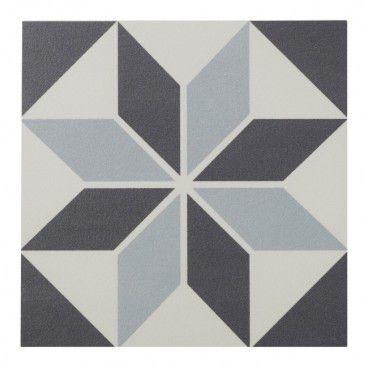 Gres Hydrolic Design 1 Colours 20 x 20 cm black&white star 1 m2