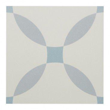 Gres Hydrolic Design 3 Colours 20 x 20 cm circle niebieski 1 m2