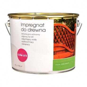 Impregnat do drewna Colours zielony 10 l