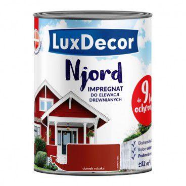 Impregnat do elewacji drewnianych Njord Luxdecor domek rybaka 0,75 l