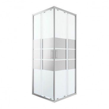 Kabina prysznicowa kwadratowa GoodHome Beloya 80 x 80 x 195 cm chrom/szkło lustrzane