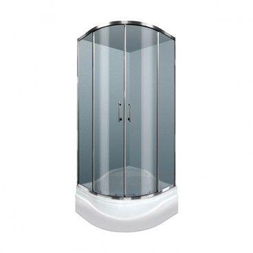 Kabina prysznicowa półokrągła Durasan Palermo 80 x 80 x 195 cm wysoki brodzik