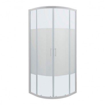 Kabina prysznicowa półokrągła Onega 80 x 80 x 190 cm biały/wzór