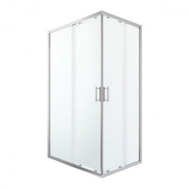Kabina prysznicowa prostokątna GoodHome Beloya 80 x 120 x 195 cm chrom/transparentna