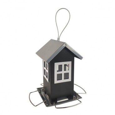 Karmnik metalowy domek