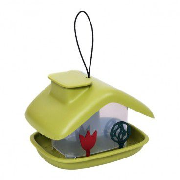 Karmnik plastikowy domek zielony