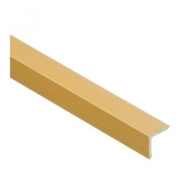 Kątownik Cezar 12 x 12 x 1,5 mm 1 m aluminium złote