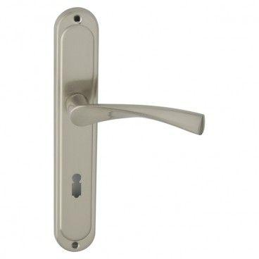 Klamka drzwiowa Ambition Febe Bis 72 mm na klucz nikiel