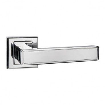 Klamka drzwiowa Schaffner Clara kwadratowy szyld chrom
