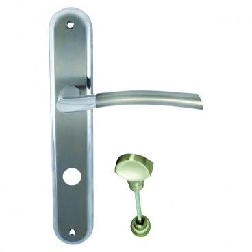 Klamka drzwiowa Schaffner Kora 72 mm WC nikiel satyna/chrom