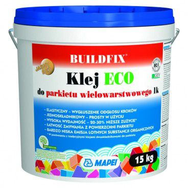 Klej jednoskładnikowy do parkietu gotowego Buildfix ECO 1k 15 kg
