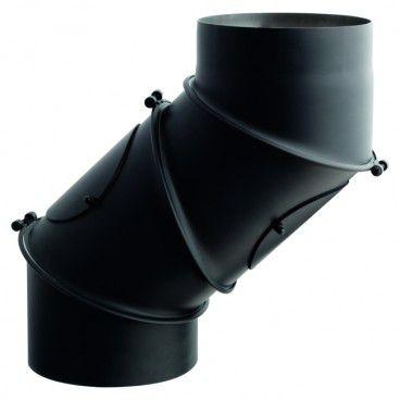 Kolano nastawne Darco 180 mm czarne 4 segmenty