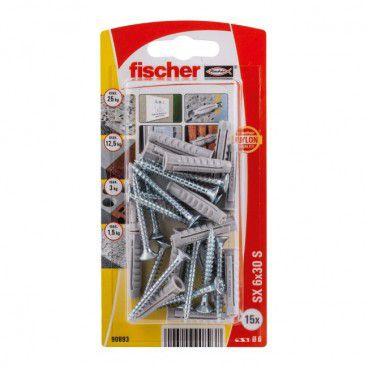 Kołki rozporowe z wkrętami Fischer SX 6 x 30 mm 15 szt.