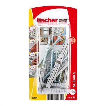 Kołki rozporowe z wkrętami Fischer SX 8 x 40 mm 10 szt.