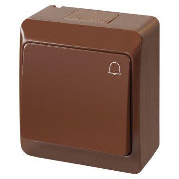 Łącznik dzwonek Elektro-Plast Hermes natynkowy brązowy