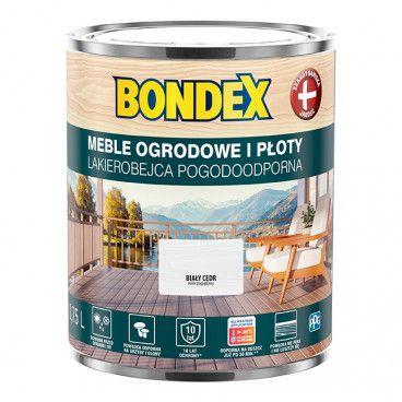 Lakierobejca do drewna Bondex Pogodoodporna biały cedr 0,75 l