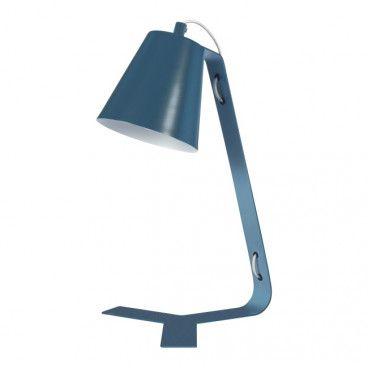 Lampa biurkowa GoodHome Bangoran E14 niebieska