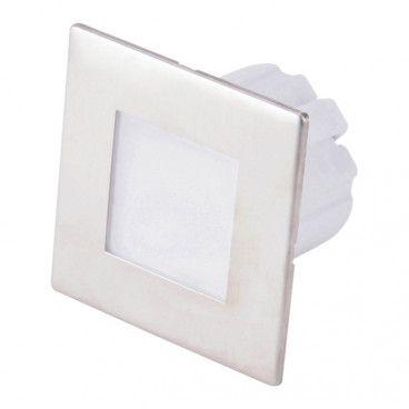 Lampa schodowa LED DPM 1,2 W 4000 K IP20 kwadratowa stal nierdzewna