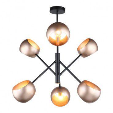 Lampa wisząca Cavazza 6 x 40 W E14 black/gold