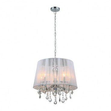 Lampa wisząca Cornelia 5 x 40 W E14 biała