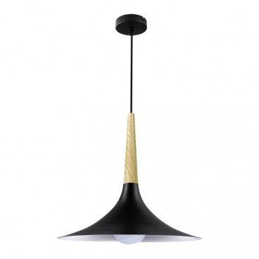 Lampa wisząca GoodHome Arraqis 1-punktowa E27 38 cm czarna